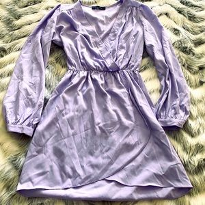 Lavender Tulip Hem Dress by Honey Punch